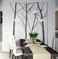 Four Winter Trees -Vinyl Wall Decal,Sticker,Nature Design. $76.00, via Etsy.