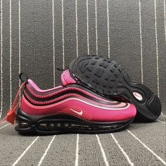 buy online cfec1 3e320 Best Quality Nike Air Max 97 black pink white women s running shoes  sneakers 917999-001