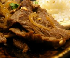 A Paleo version of the popular Korean dish Bulgogi (barbecued beef)