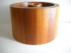 Vintage Dansk Denmark Danish Modern Staved Teak Wood Ice Bucket