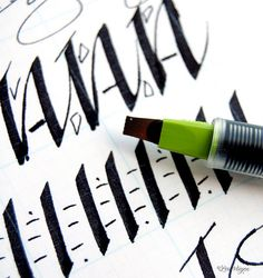 calligraphy...I used to know how to do this well.  It would be nice to dust off my old skill