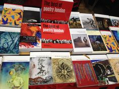 Carcanet's stall at the Free Verse Poetry Book Fair in London