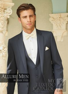 grey suit with ivory bow tie - Google Search