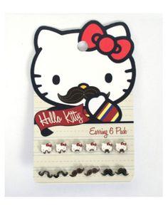 Hello Kitty Mustache Earring Pack $12