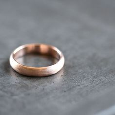 Rose+Gold+Men's+Wedding+Band+Brushed+Men's+or+Women's+by+TheSlyFox