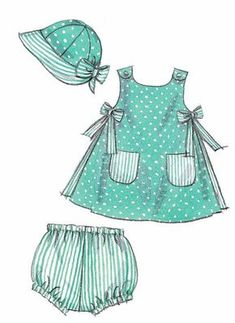 Items similar to Cross-Back Sundress Pattern, Infants Sundress Pattern, Toddlers Sundress Pattern, Sz 13 to 24 lbs, McCall's Sewing Pattern 6303 on Etsy - Kindermode Hat Patterns To Sew, Baby Dress Patterns, Sewing Patterns Girls, Mccalls Sewing Patterns, Clothing Patterns, Pattern Sewing, Toddler Outfits, Kids Outfits, Baby Outfits