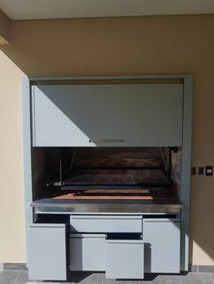 Wall Oven, Kitchen Appliances, Patio, Rose, Ideas, Bar Grill, Iron Doors, Diy Kitchen Appliances, Home Appliances