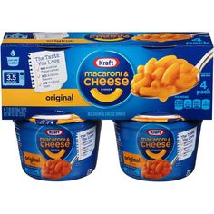 Kraft Whole Grain Macaroni & Cheese 2 oz - 4 pk Macaroni And Cheese Kraft, Quick Mac And Cheese, Mac And Cheese Cups, Making Mac And Cheese, Macaroni Pasta, Macaroni Recipes, Mac Cheese, Dorm Food, Cheese Cultures
