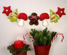 Lebkuchenmann♥Muffin♥Cupcake♥Zuckerstange♥Girlande♥Weihnachten♥nach Tilda Art in Möbel & Wohnen, Dekoration, Sonstige | eBay