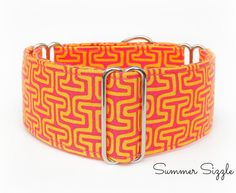 Martingale Collar - Summer Sizzle, Greyhound Collar, Whippet Collar, Italian Greyhound Collar, Dog Collar,  1.5 Inch Martingale Dog Collar