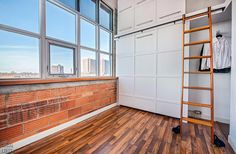 Feather Factory Lofts-2154 Dundas St W #PH1 | WOW! Rare penthouse junior 1 bedroom authentic post, brick & beam heritage LOFT, with exposed brick walls, extra high 14.5 ft high factory wood ceilings & bright West exposure from large warehouse windows. | More info here: torontolofts.ca/feather-factory-lofts-lofts-for-sale/2154-dundas-st-w-ph1-1 Exposed Brick Walls, Exposed Concrete, Toronto Lofts, Lofts For Rent, Rental Listings, Wood Ceilings, Pent House, Open Concept, Beams