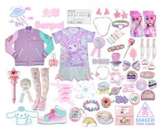 """""""fairy kei/ decora"""" by littlestarprince ❤ liked on Polyvore featuring Pixie, Hot Topic, Accessorize, Hello Kitty, Market, Forever 21, Local Heroes and Kreepsville 666"""