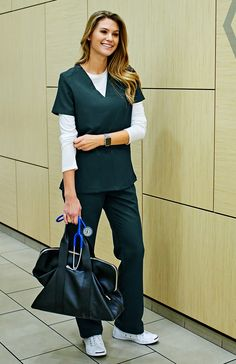Why We Love This Great style – it's all in the details. Take the Isabela scrub top: designed with a slim V-neck that's refreshingly modern, super flattering, and completely professional. Best part? Th