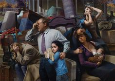Max Ginsburg, Social Realism. #oil #painting #FineArt