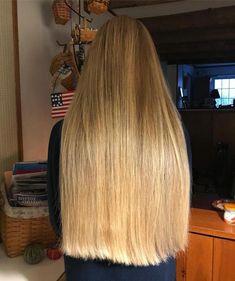- June 29 2019 at One Length Hair, Waist Length Hair, Bun Hairstyles For Long Hair, Straight Hairstyles, Beautiful Long Hair, Gorgeous Hair, Perfect Blonde Hair, Silky Smooth Hair, Long Brown Hair