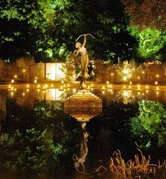 Diana Fountain during Night of a Thousand Candles at Brookgreen Gardens, SC. Spectacular sculpture in the Brookgreen Gardens @GloMSN http://glo.msn.com/living/spectacular-sculpture-gardens-6639.gallery