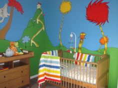 Dr. Seuss Nursery, I love Dr. Seuss books and when my husband and I decided not to find out the sex of our baby, we needed a nursery that wa...