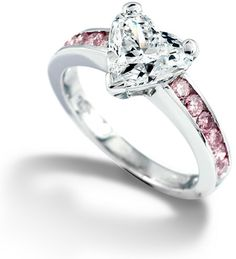 Pink heart diamond ring from my future husband
