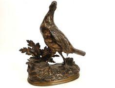 Sculpture bronze perdrix poule faisane bronze J. Moigniez XIXe - Antiques de Laval