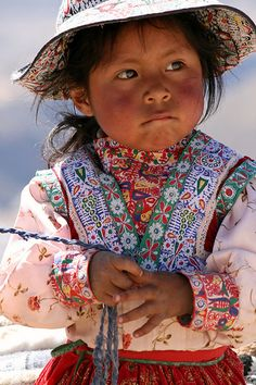Little Peruan Girl Near Chivay, Peru