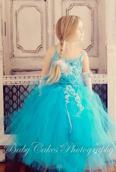 4T to 10/12  COMPLETE OUTFIT Princess ELSA Snow Queen from Movie Frozen Girls Skirt Tutu Dress Birthday Party Costume Halloween