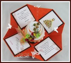 Fall Theme Exploding Box Invitations Kit   Jinkys Crafts