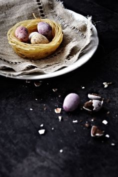 edible Easter egg nests