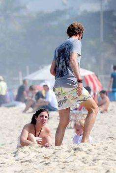 Tatiana and Andrea with their son Sacha on the Ipanema Beach in Rio de Janeiro - June 2014 Andrea Casiraghi, Monaco Royal Family, Princess Caroline Of Monaco, Prince Albert, Crown Royal, Royals, Diana, Families, Sons