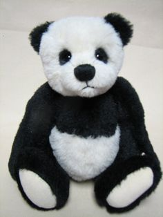 Cute Black and white Alpaca Panda bear by Canadian by Melbears, $185.00