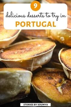 A delectable list of 9 Portuguese desserts that you must try on your trip to Portugal. Sure, we have the Pastel de Nata. Portuguese Custard Tarts, Portuguese Desserts, Portuguese Recipes, Portuguese Food, Delicious Desserts, Dessert Recipes, Yummy Food, Healthy Food, South Korean Food
