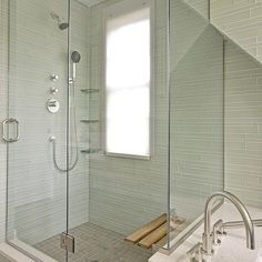 Glass Tile Shower Design Ideas, Pictures, Remodel and Decor