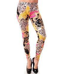 Gold Printed Leggings
