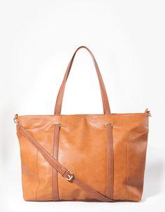 Shopper bag με ραφές