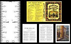 1:12 SCALE MINIATURE BOOK ROBIN'S CHRISTMAS EVE DOLLHOUSE SCALE #LEEANNBORGIA