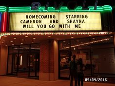 This is real couple goals. Homecoming proposal