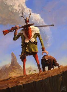 ArtStation - Wild West Druid, Kamil Murzyn