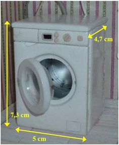 Dollhouse front loader washing machine tutorial