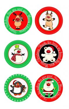 Really cute christmas topper tags