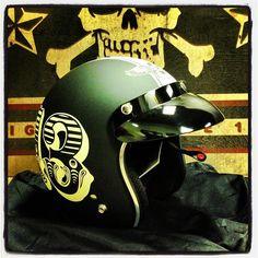 #lucky13 #motorcycle helmet
