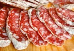 Salame Felino , a product with Protected Designation of Origin. Region : Emilia Romagna