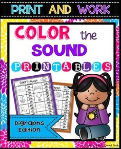 FREEBIE!! Digraphs COLOR THE SOUND Printables (Worksheets)If you like this, you might be interested in:Color the BLENDSDo your kiddos need extra practice with words with digraphs? This set will help fit your needs.I am always trying to think of different ways for my students to learn different skills since we know our students learn differently.The digraphs (sh, ch, th, wh, and ph) are included.