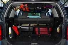 raingler xterra | Raingler Cargo Net to store off road gear in SUV's