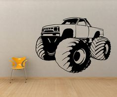 Monster Truck Wall Stickers - http://bestnewtrucks.net/monster-truck-wall-stickers.html - http://bestnewtrucks.net/wp-content/uploads/2014/06/monster-truck-wall-stickers-8.jpg