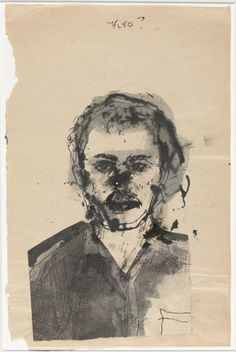 Theo by  Marlene Dumas (South African, born 1953) 1976