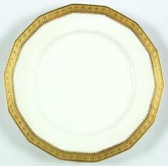 """""""Richelieu"""" china pattern with gold trim from Chas Field Haviland."""