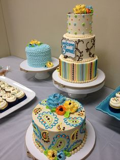 baby shower cake - white flower cake shoppe