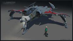 Die Anvil Aerospace Gladiator mit all ihren Details.