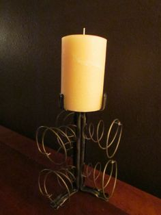 Candle Holder From 3 Chair Springs   Available At Johnson Furniture Co. New  Braunfels,