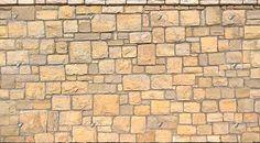 Stone fence wall texture horizontal seamless + maps