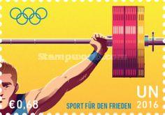 UN Vienna, 22.7.2016. Olympic Games - Rio de Janeiro, Brazil. Value 0,68 EUR, Issued (2/4) 210.000 pcs. Price: 1,09 USD.